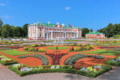 Kadriorg Palace and flower garden in Tallinn, Estonia. Kadriorg Palace and flower garden with fountain in Tallinn, Estonia. Kadriorg Palace is a Petrine Baroque Stock Image