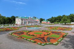 Kadriorg Palace and flower garden in Tallinn, Estonia. Kadriorg Palace and flower garden with fountains in Tallinn, Estonia. Kadriorg Palace is a Petrine Baroque Stock Photography