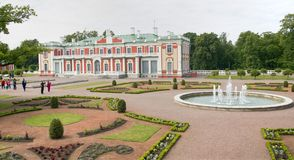 Kadriorg Palace In Tallinn. Baroque park at Kadriorg Palace, also called Catherinethal, Tallinn, Estonia, Baltic States Stock Photography