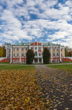 Kadriorg Palace under blue sky, autumn scene Stock Image