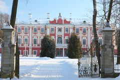 Kadriorg palace in winter Stock Images