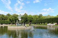 Kadriorg Park in Tallinn, Estonia. Pond in the Kadriorg Park in Tallinn, Estonia Royalty Free Stock Images
