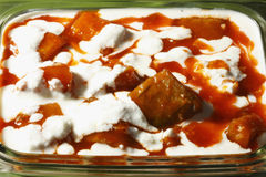 Kadu bouranee - a pumpkin dish from India Stock Image