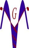 Kaduceuszu logo zdjęcie royalty free