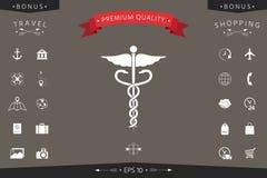 kaduceuszu wycinek zawiera cyfrowego medycznego ilustracyjnego ścieżka symbol Zdjęcia Stock