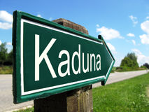 Kaduna signpost. Along a rural road Royalty Free Stock Photography