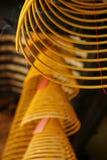 Kadzidło, spirale, Kun iam świątynia, Macau. obrazy stock