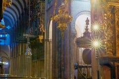 Kadzidłowy palnik, katedra Santiago Zdjęcia Stock