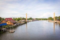 Kae yai river. At Samootsongkham in Thailand Royalty Free Stock Image
