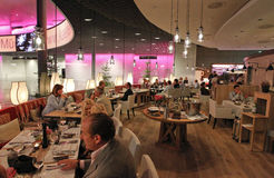 Kaefer Schweiz AG opens new Restaurant in Basel, Switzerland: VIP Dinner on Thursday 03.10.2013 Stock Photos