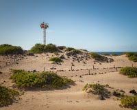 Kaena Point Light Landscape. At the north shore national park on Oahu, Hawaii stock photos