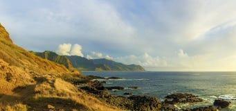 Kaena punktu stanu park przy zmierzchem, Oahu, Hawaje, usa Obraz Royalty Free