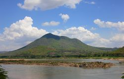 Kaeng Khut Khu and Khong river view stock image
