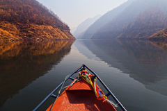 Kaeng Kor is big lake which surrounded by mountains Royalty Free Stock Image