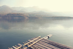 Kaeng Kor is big lake which surrounded by mountains Royalty Free Stock Images