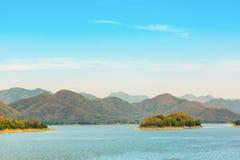 Kaeng Krachan lake view Royalty Free Stock Image