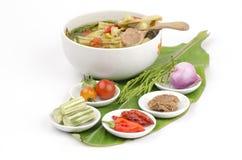 Kaeng Marum (northern thai name), Moringa curry with pork (Moringa oleifera Lam.) Royalty Free Stock Images