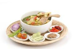 Kaeng Marum (northern thai name), Moringa curry with pork (Moringa oleifera Lam.) Royalty Free Stock Image