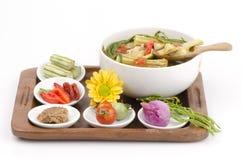 Kaeng Marum (northern thai name), Moringa curry with pork (Moringa oleifera Lam.) Royalty Free Stock Photography