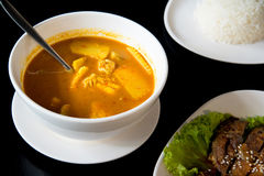 Kaeng Som a sour, spicy type of soup.  Stock Images