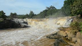 Kaeng song waterfall, natural tourist attraction in Phitsanulok province, Thailand. stock video footage