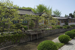Kaeson, North Korea. An ethnic-styled hotel in Kaeson, DPRK Stock Photos