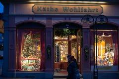 Kaethe Wohlfahrt圣诞节存储 免版税库存图片