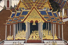 kaew mural ταϊλανδικός τοίχος phra ζω& Στοκ φωτογραφίες με δικαίωμα ελεύθερης χρήσης