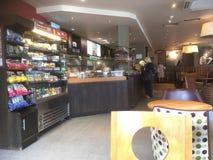 Kafé- eller kaffehusinre Arkivbilder