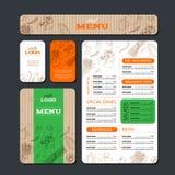 Kafé- eller restaurangidentitetsmall Arkivbild