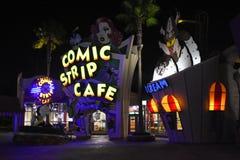 Kafé för komisk remsa i universella studior i Orlando, FL Royaltyfri Fotografi