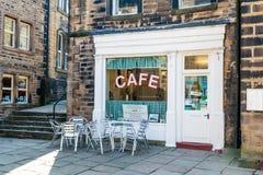 Kafé Holmfirth huddersfield yorkshire för Sid-` s royaltyfri foto