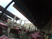 Kafé i Belgrade Royaltyfria Foton