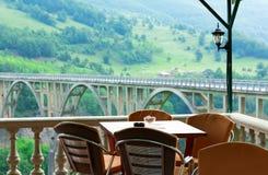 Kafé i berg Arkivbild