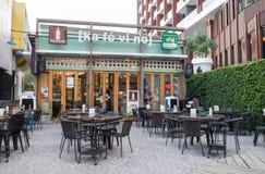 Kafé i Chiang Mai, Thailand Arkivfoto
