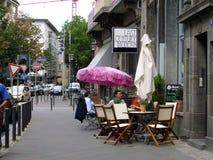 Kafé i Frankfurt Royaltyfria Bilder