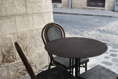 Kafé i Lvov Arkivfoton