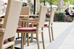 Kafé i stadmarknad Royaltyfri Fotografi