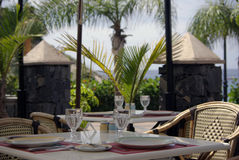 Kafé i Tenerife Arkivbilder
