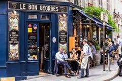 Kafé Le Bon Georges france paris fotografering för bildbyråer