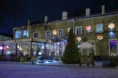 Kafé på julafton Royaltyfria Foton