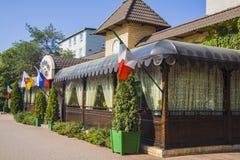 Kafé på Krasnodar Royaltyfria Foton