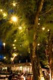 Kafé på natten Arkivbild