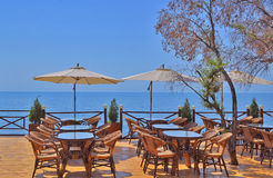 Kafé på stranden Royaltyfri Foto