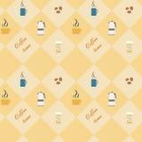 Kafébeståndsdelar stock illustrationer