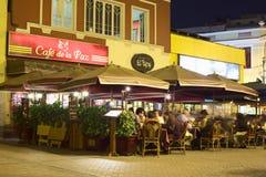 Kaféer i Miraflores, Lima, Peru Arkivfoto