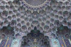 Kafelkowa dekoracja, Isfahan, Iran obrazy stock