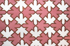 Kafelkowa panelu drewna mozaika Zdjęcia Stock