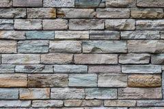 Kafelkowa rockowa ściana z cegieł tekstura Obraz Royalty Free