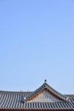 Kafelkowi dachy Koreańska Tradycyjna architektura obrazy stock